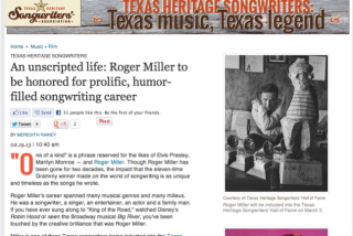 Roger Miller feature on CultureMap Austin