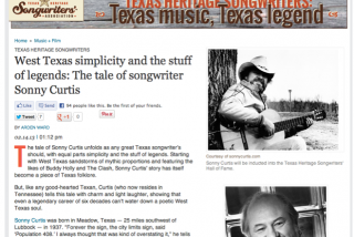 Sonny Curtis Featured on CultureMap Austin